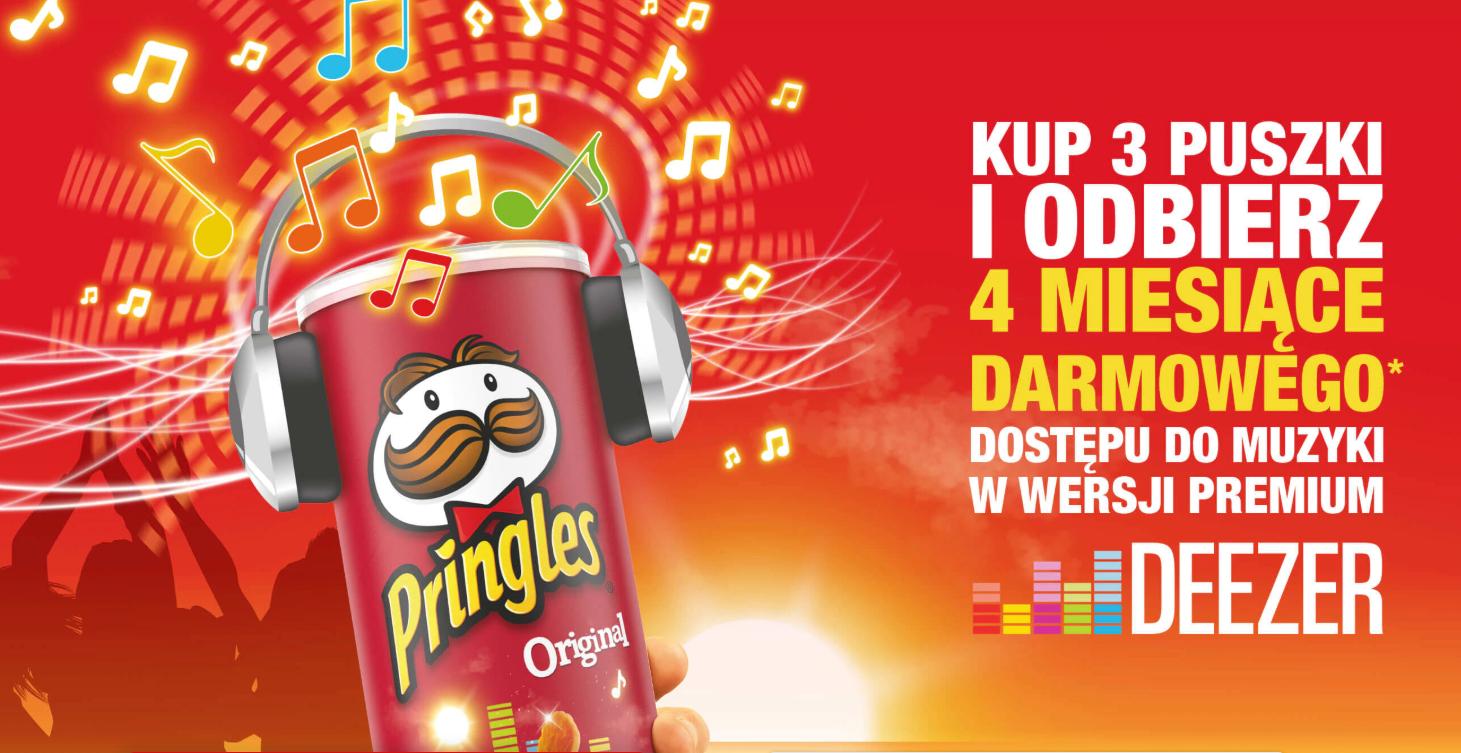 Kup 3 puszki Pringles i odbierz 4 miesięczny abonament Deezer Premium