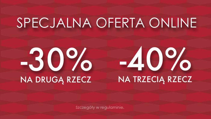 -30% na drugą rzecz, -40% na trzecią rzecz (także na przecenę!) @ Cross Jeans
