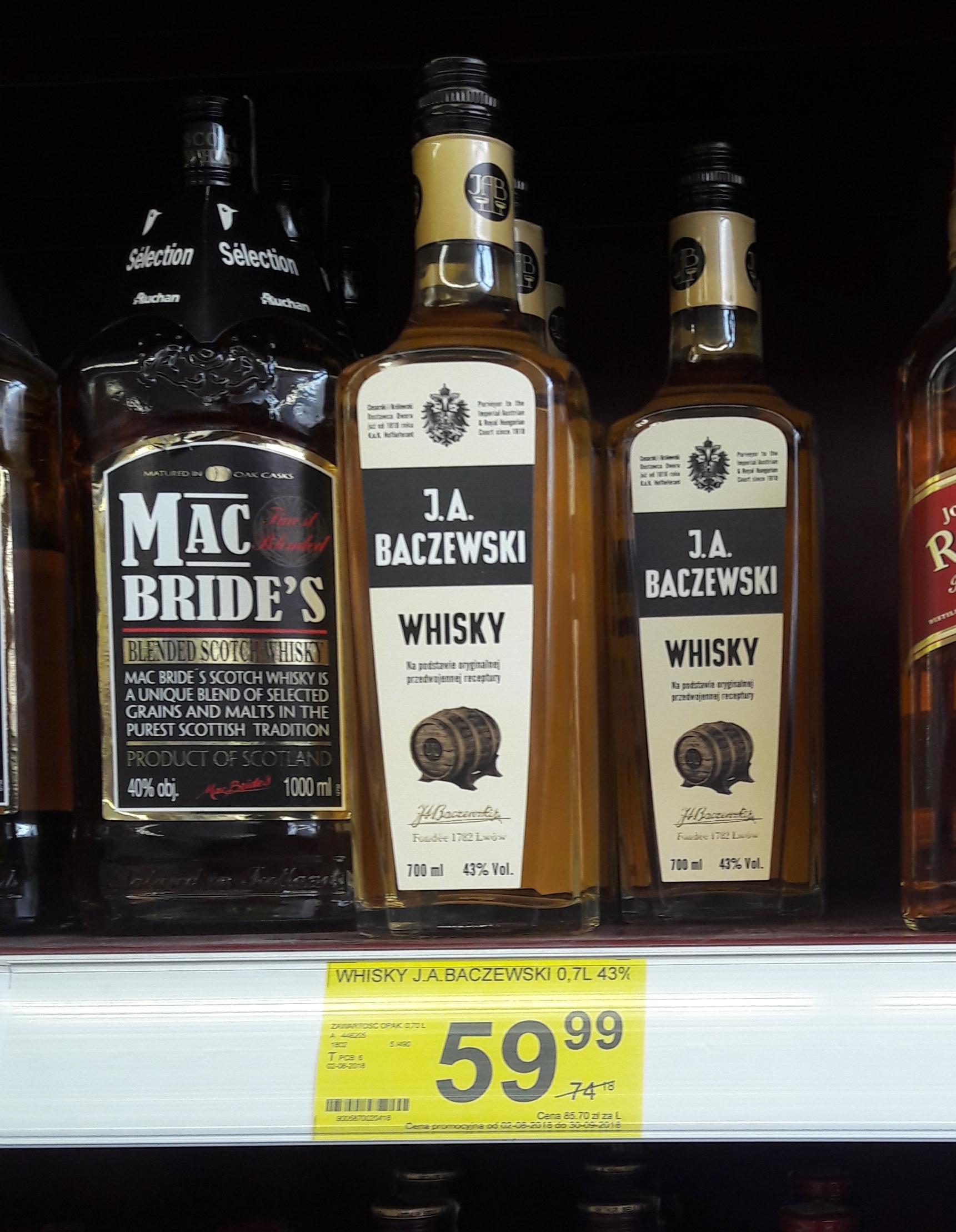 J.A. Baczewski Whisky 0.7l Simply Market