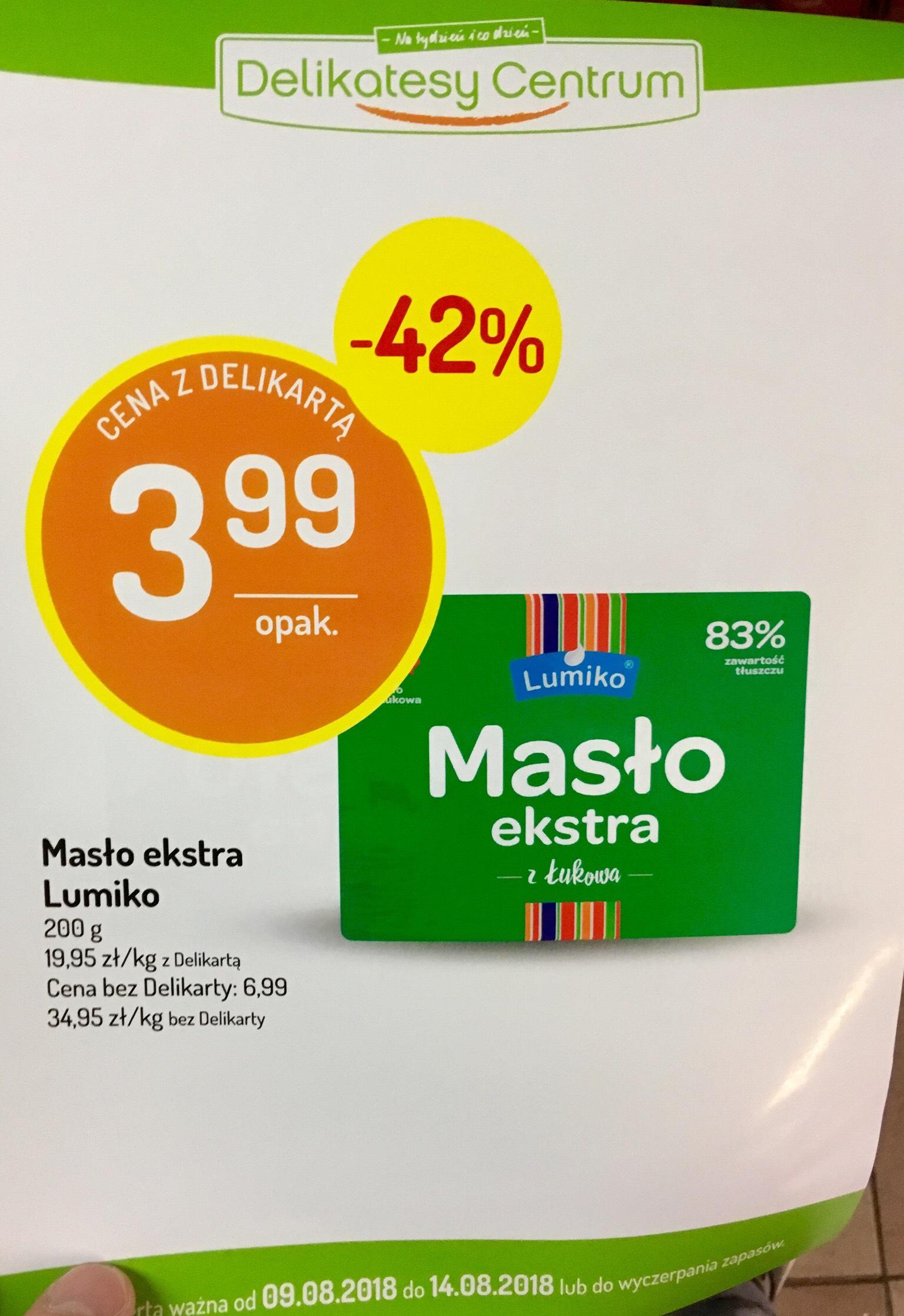 Masło 83% @Delikatesy Centrum