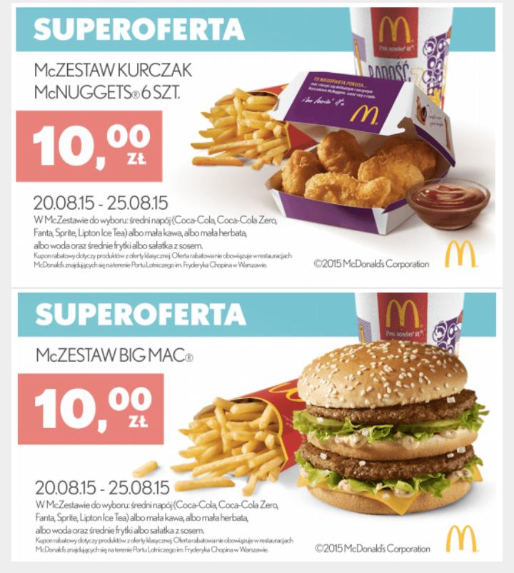 2 nowe Kupony @ McDonald's
