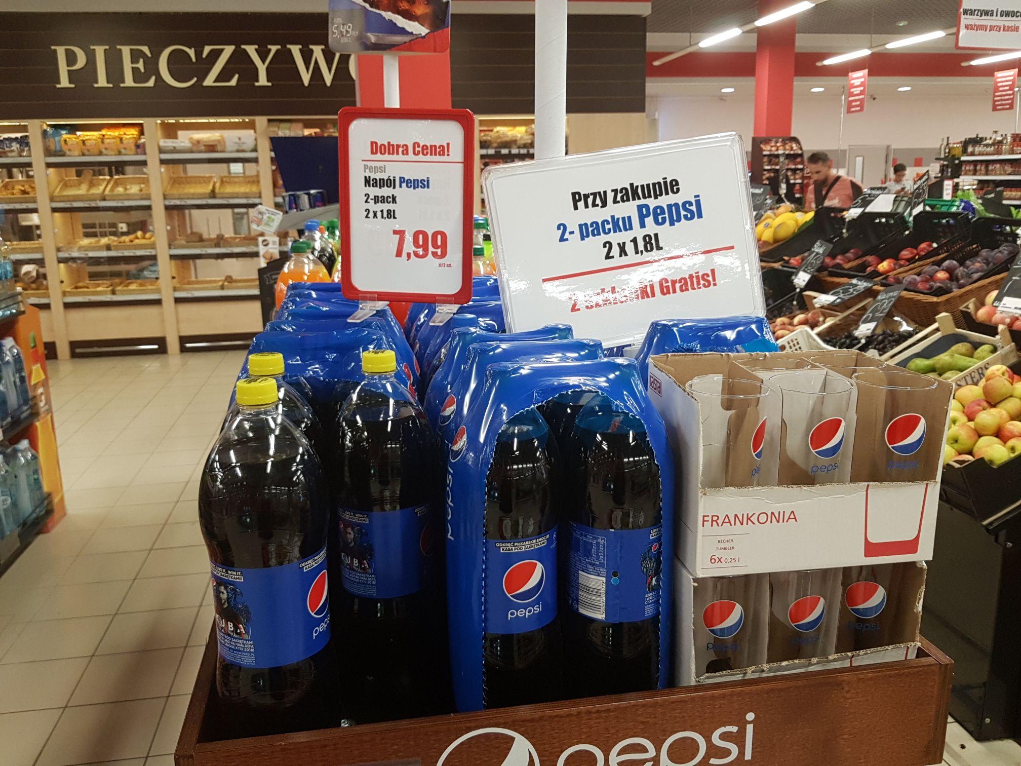 2-pack Pepsi 1,8L oraz 2 szklanki za 7,99 ;) Wilanów