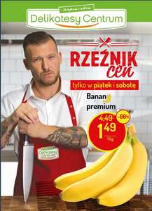 Banany 1,49 zł/kg / Max 5 kg. / MWZ 49 PLN