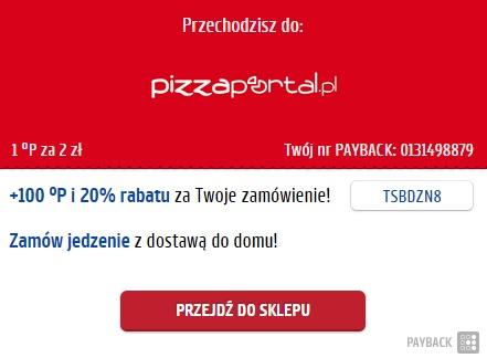 20% RABATU na zamówienie w PizzaPortal @ Payback