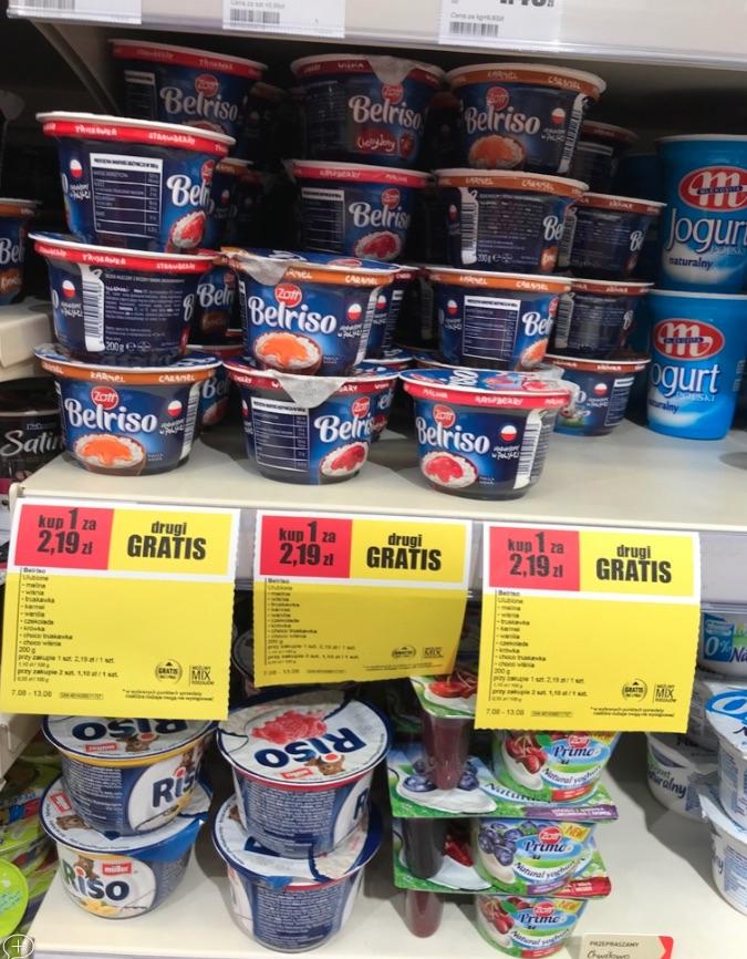 ZOTT Belriso 2 szt. za 2,19 zł, InterMarche - deser mleczno ryżowy