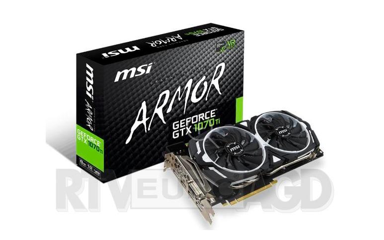 MSI GeForce GTX 1070 Ti ARMOR 8GB DDR5 256bit