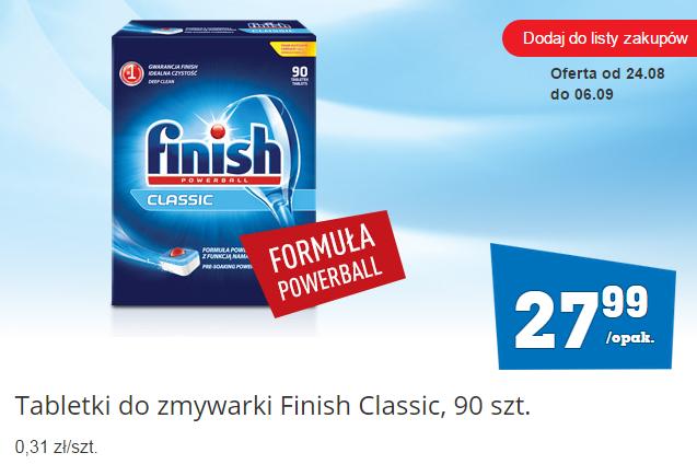Tabletki do zmywarki Finish Classic 90 szt. za 27,99zł  (0,31zł/szt.) @ Biedronka
