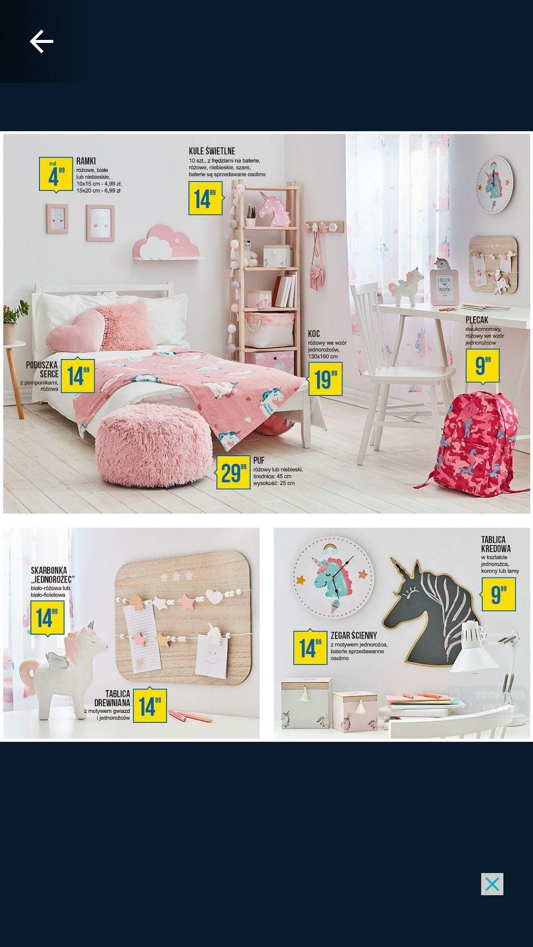 Pepco - pokój dziecka dodatki dla dziewczynki/chłopczyka