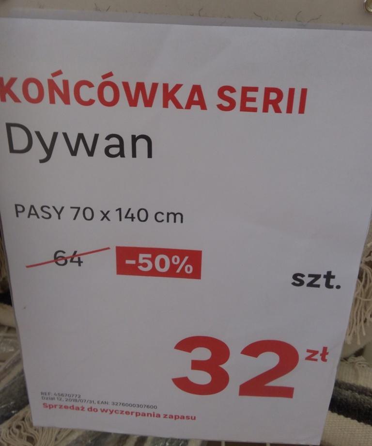 Leroy Merlin Dywan PASY 70x140cm 32zł