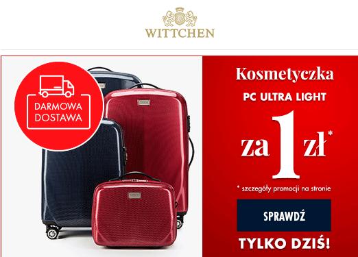 -30% na walizki PC Ultra Light + kosmetyczka z policarbonu za 1zł