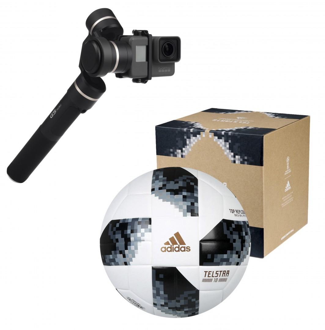 Gimbal FeiyuTech G5 + piłka Adidas Telstar World Cup 2018