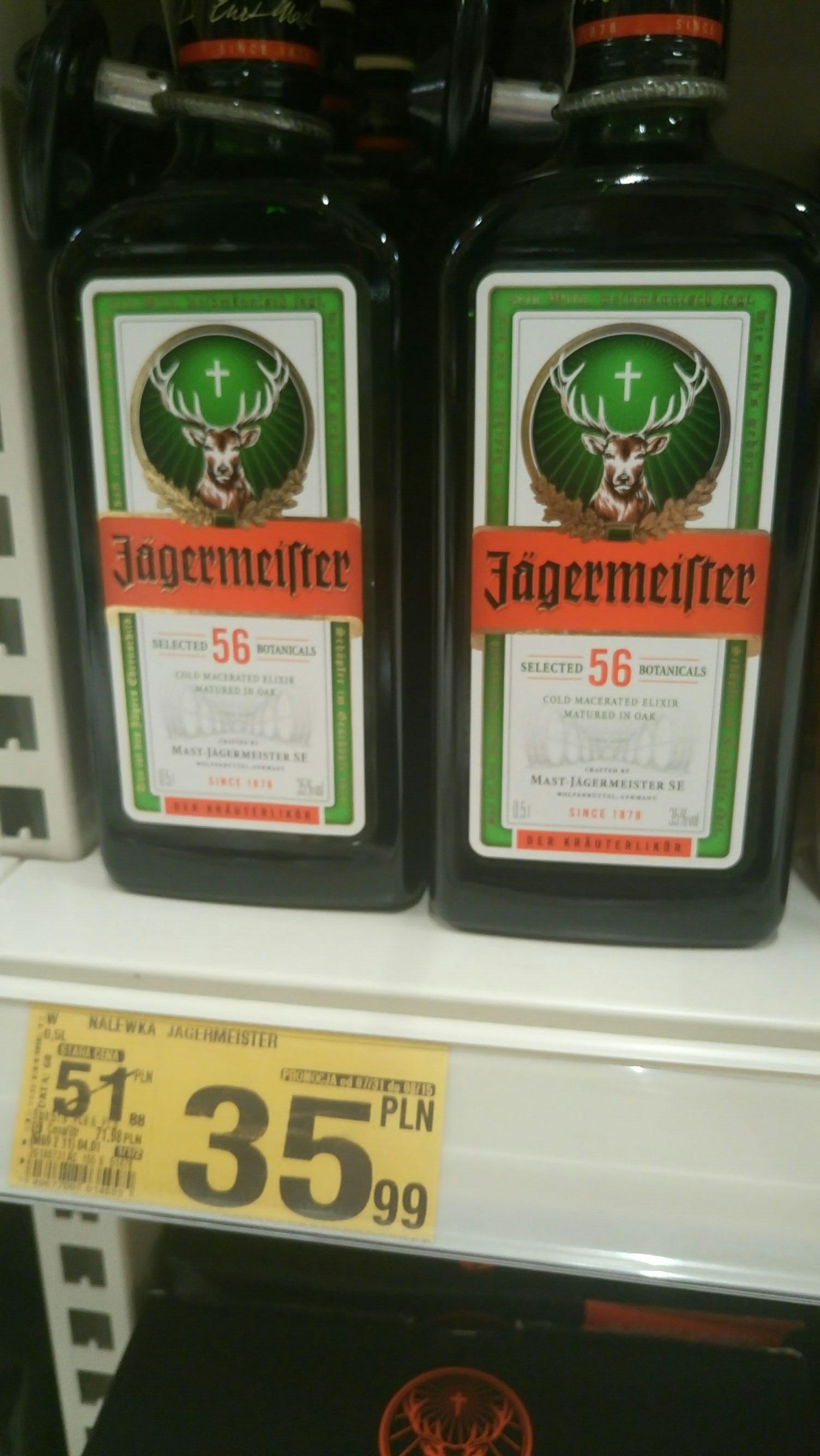 Jagermeister 0,5l - Auchan Sosnowiec