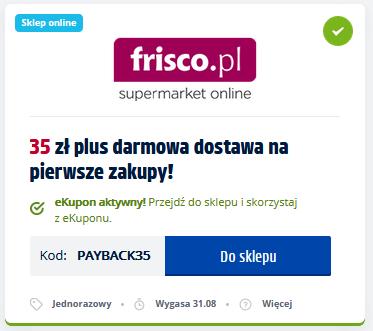 Frisco w Payback - rabat 35 zł (mwz120zł) i darmowa dostawa na pierwsze zakupy!