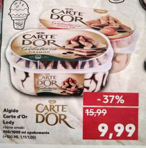 Lody Carte d'Or Kaufland