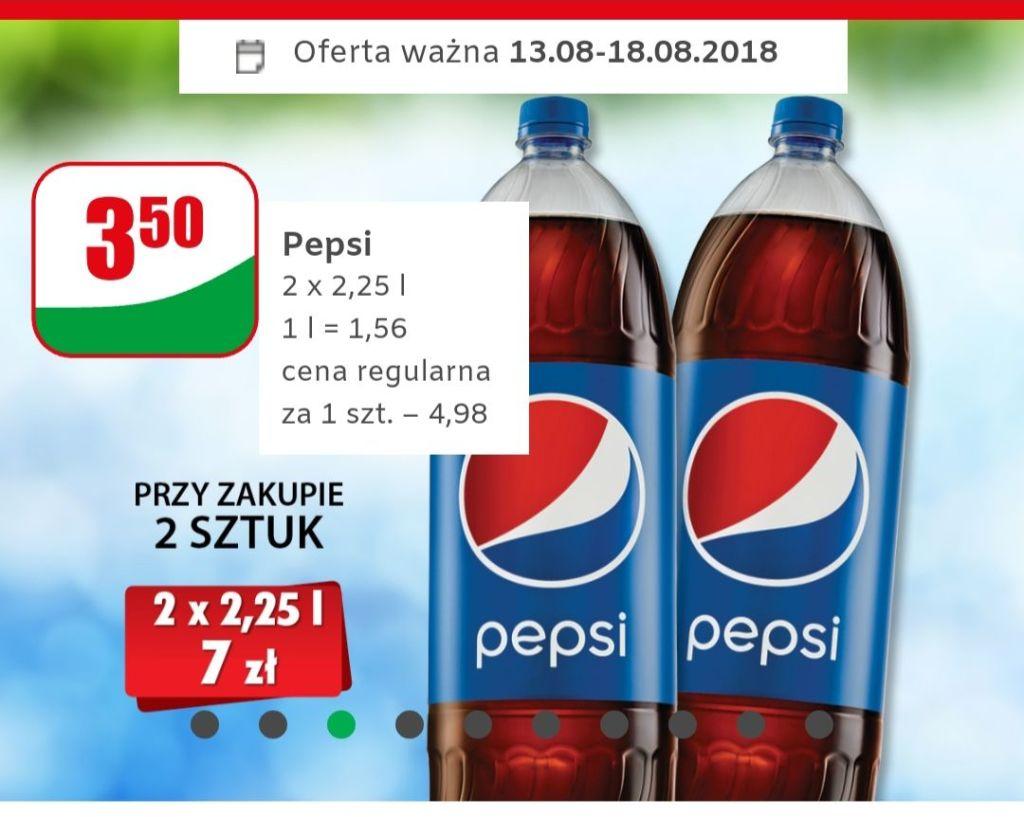 Pepsi 2.25l za 3.50zl przy zakupie 2 sztuk - Dino