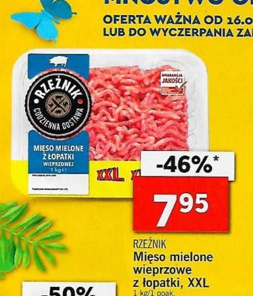 1kg mięso mielone z łopatki wieprzowej Lidl