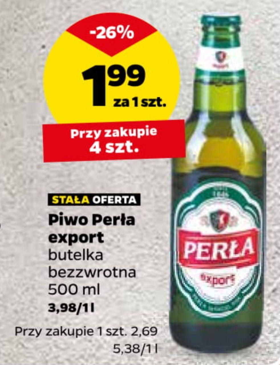 Piwo Perła Export 500ml. Cena przy zakupie 4 butelek @Netto