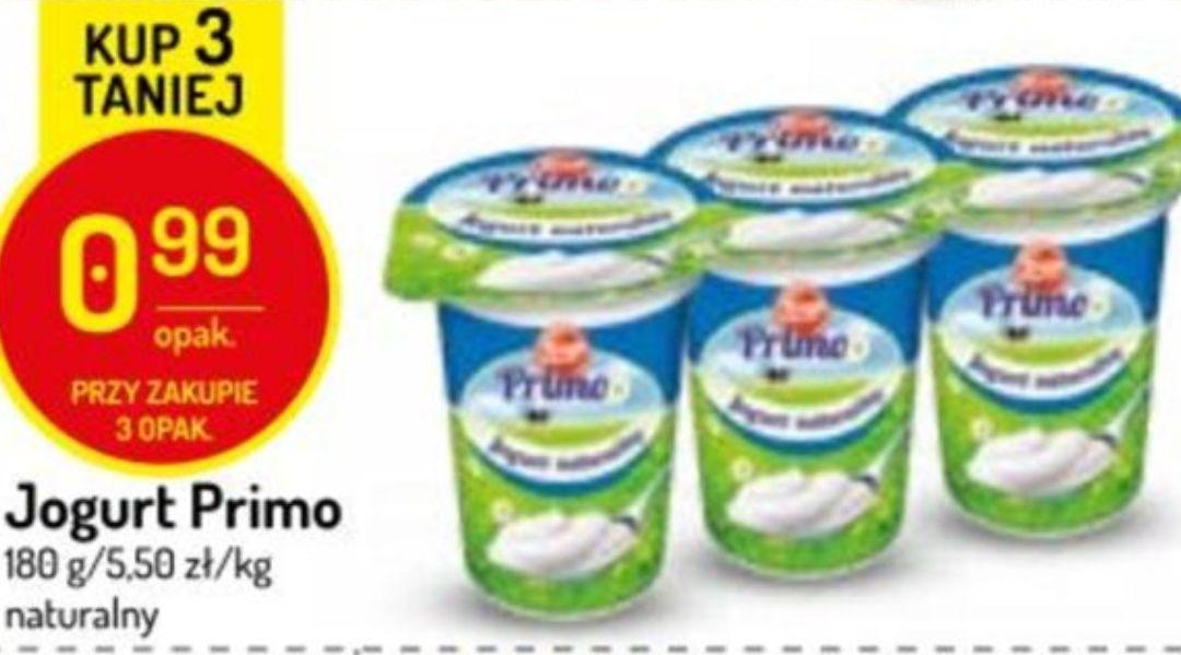 Jogurt naturalny Zott Primo 180g. Cena przy zakupie 3 sztuk @Delikatesy Centrum