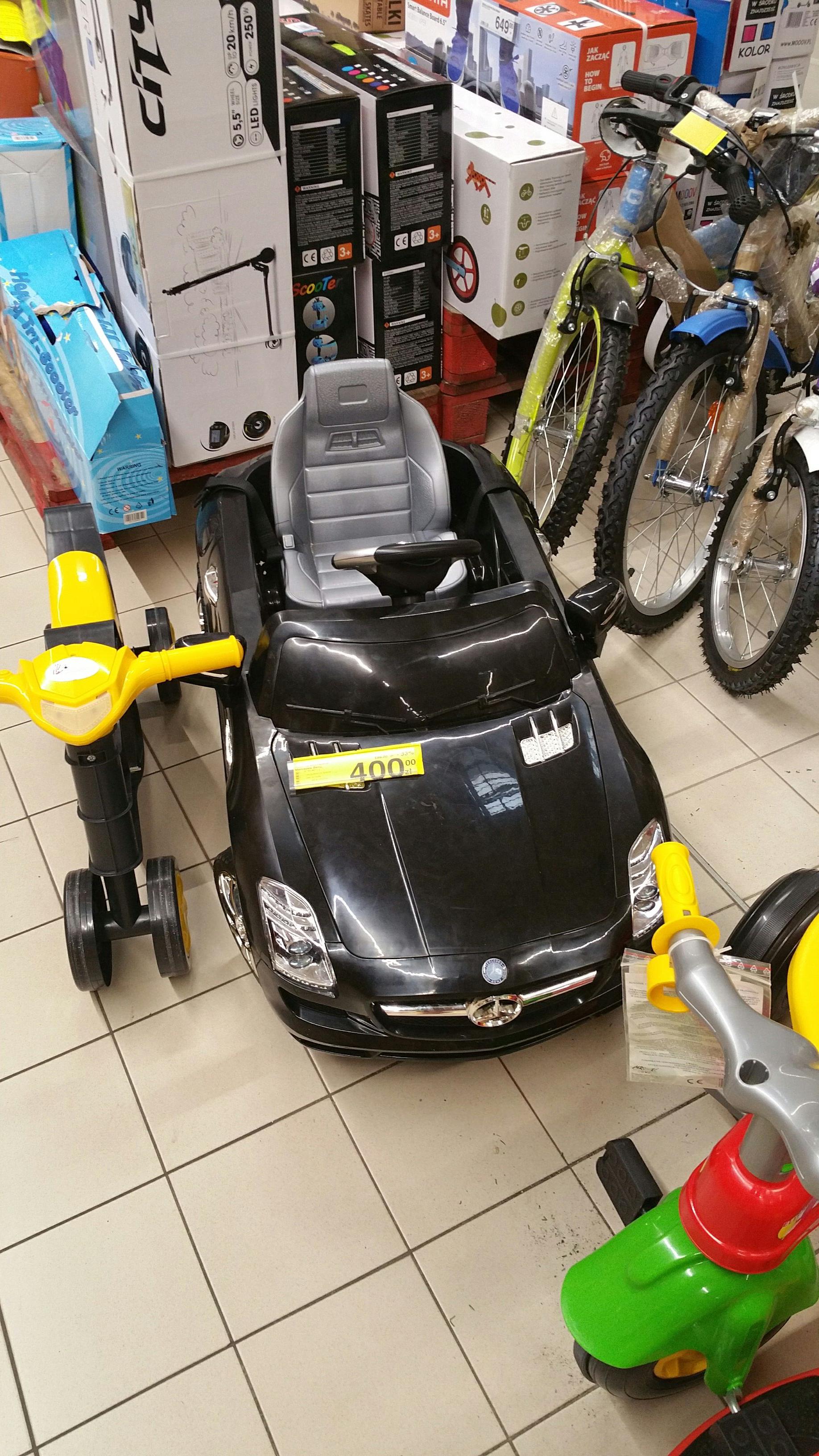 Auto elektryczne  mercedes benz Carrefour pila