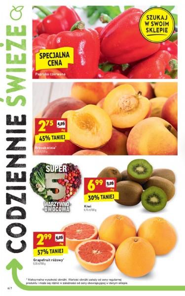 Grapefruit różowy 2,99zł i brzoskwinie za 2,75 @Biedronka