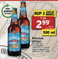 Miłosław Witbier @LIDL cena przy zakupie dwóch