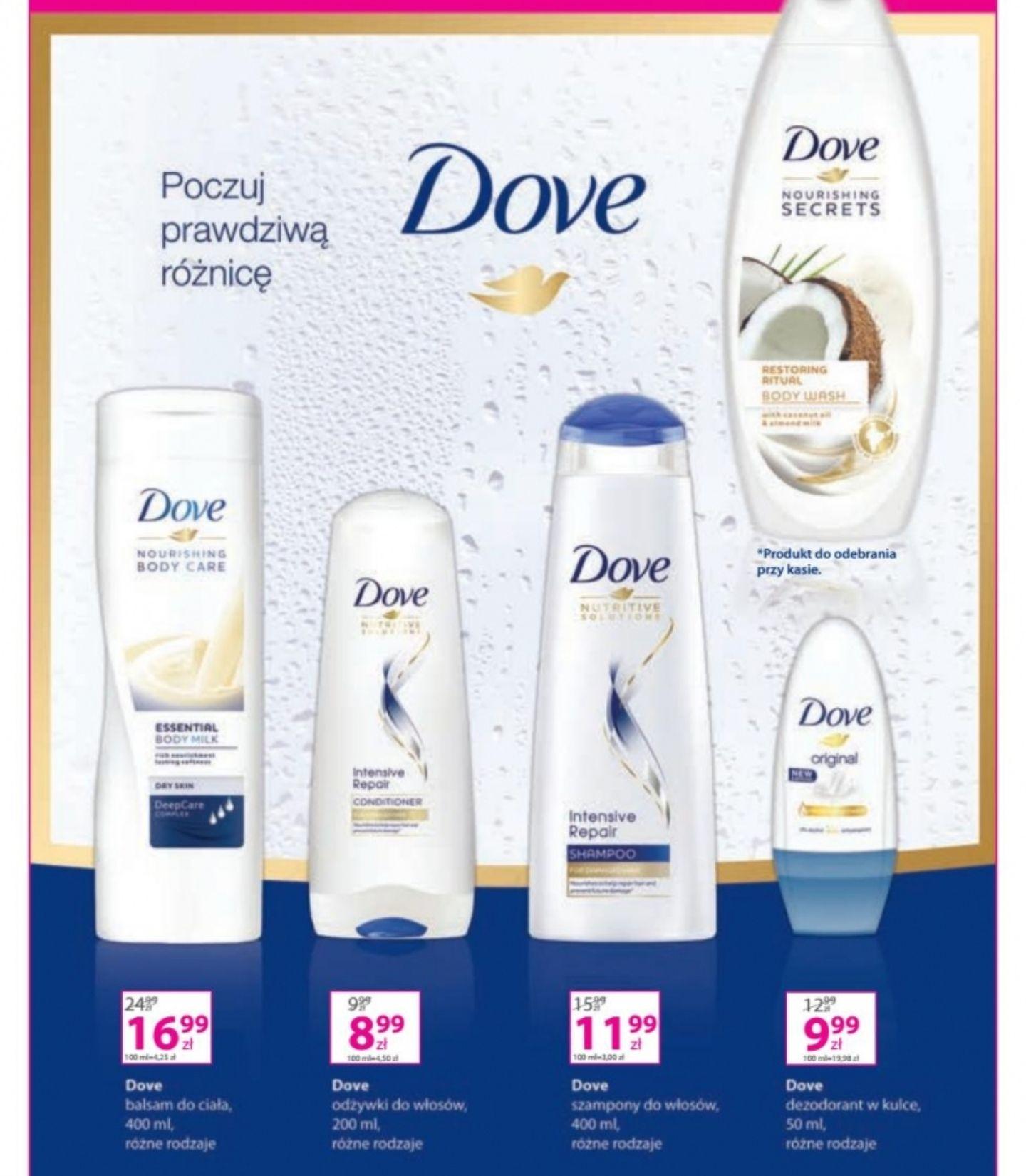 Kup w Hebe dowolne produkty Dove za minimum 20 zł a kokosowy żel otrzymasz gratis