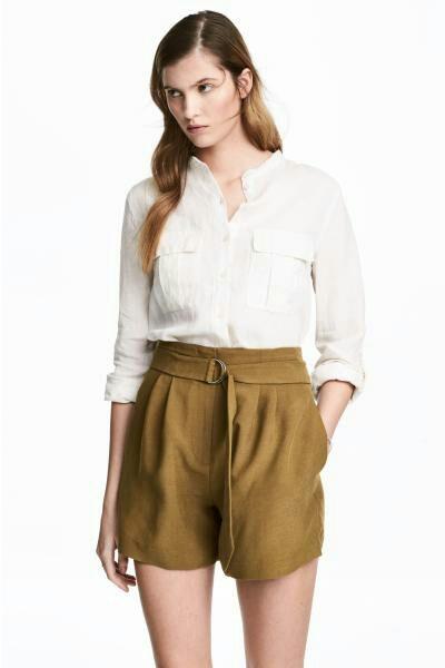 H&M len 100% damska koszula