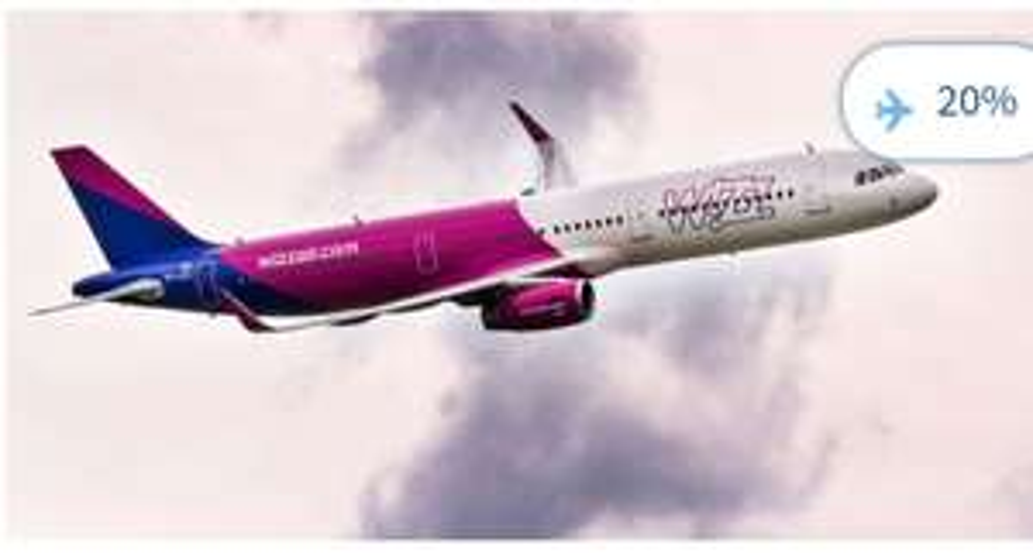 Bilety w Wizz Air tańsze o 20% (dla wszystkich)