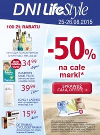 Rozmaite marki kosmetyczne taniej o 50% z kartą LifeStyle (25-26.08) @ Super-Pharm