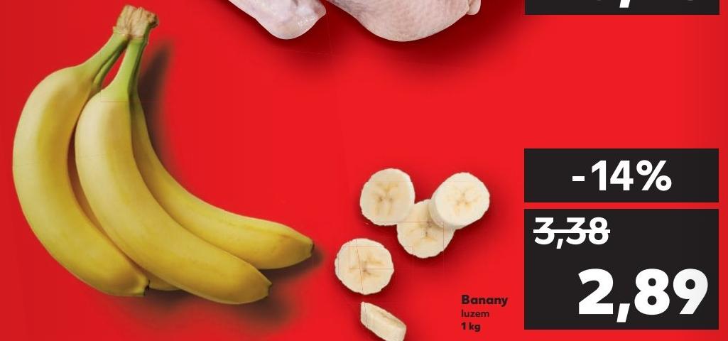 Banany za 2.89 tylko w sobotę 18.08 @Kaufland
