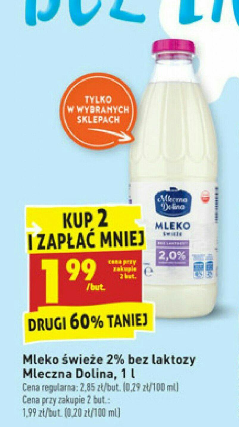 """""""Świeże"""" mleko bez laktozy 2% - Biedronka"""