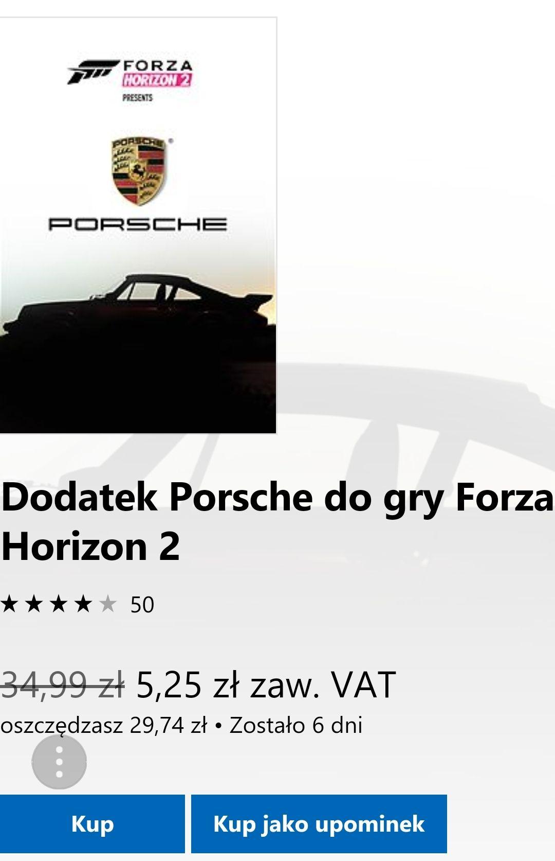 Dodatek Porsche do gry Forza Horizon 2. Xbox one