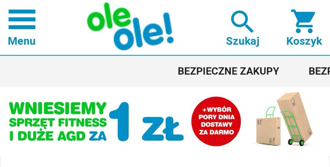 Wniesienie dużego AGD i sprzętu fitness za 1,- zł na oleole.pl
