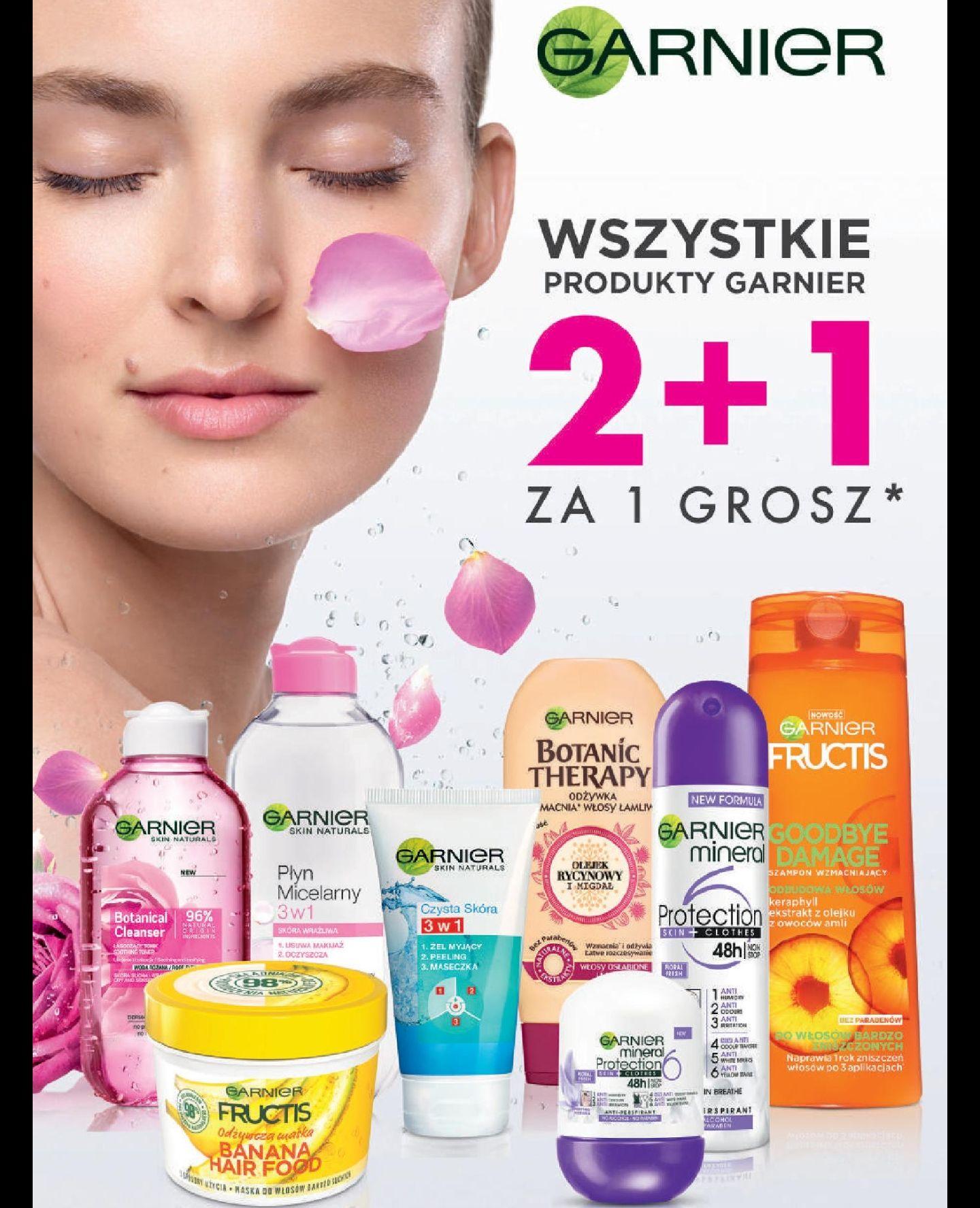 Wszystkie* produkty Garnier 2+1 za 1 grosz w drogerii Natura