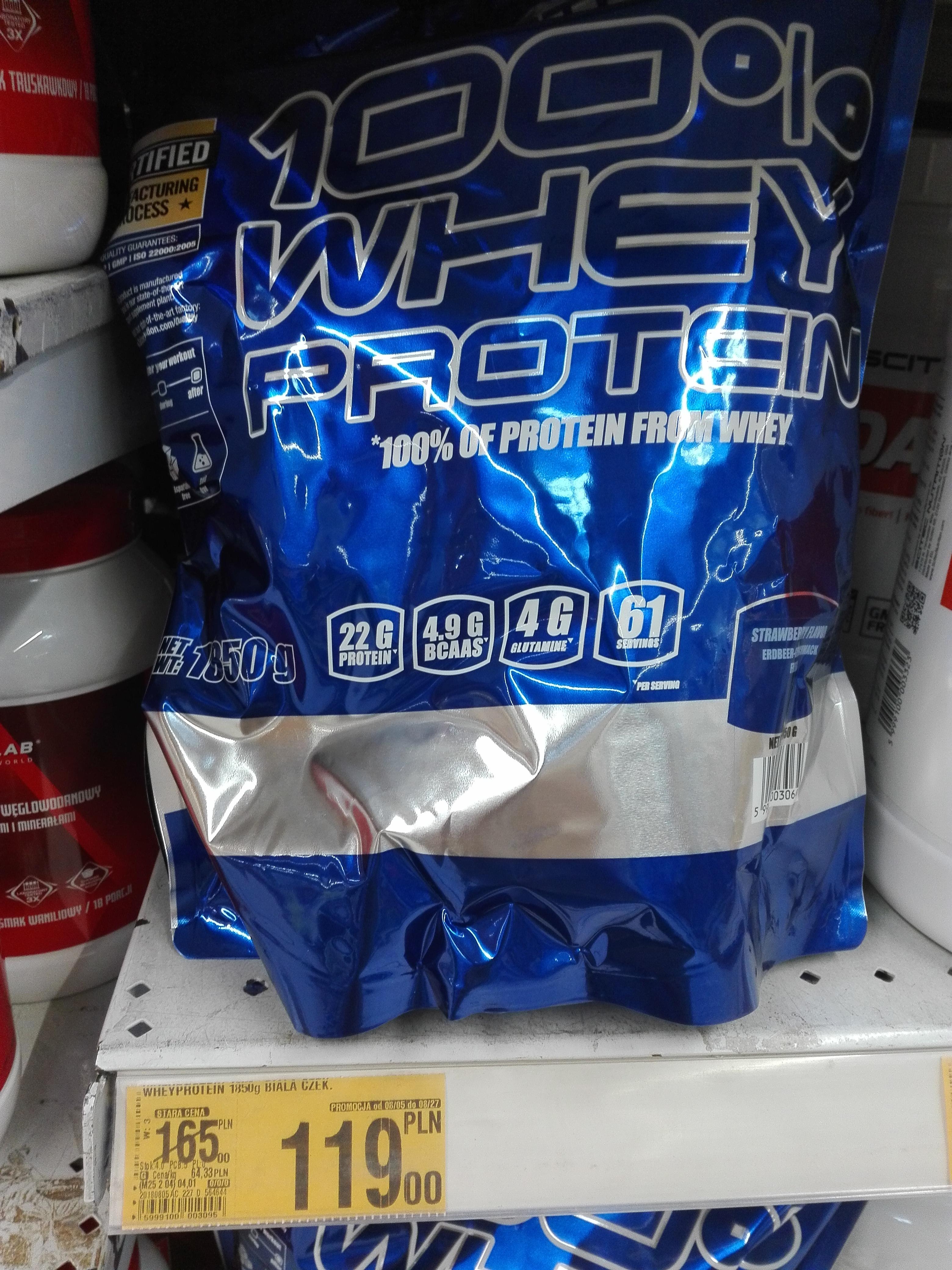 Odżywka białkowa Scitec Nutrition 100% Whey Protein -Auchan Katowice (być może lokalnie)1850 g różne smaki data 2020