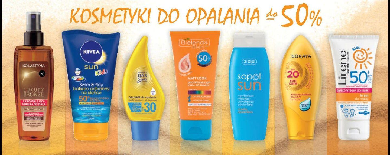 Do -50% na kosmetyki do opalania w drogerii Natura