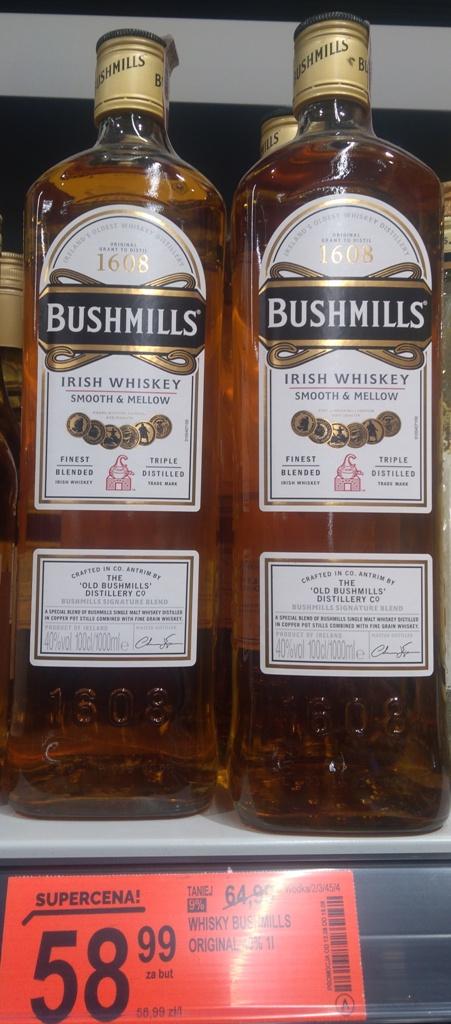 Irish Whiskey/Whisky Bushmills Original 1 litr @Biedronka Bielsko-Biała