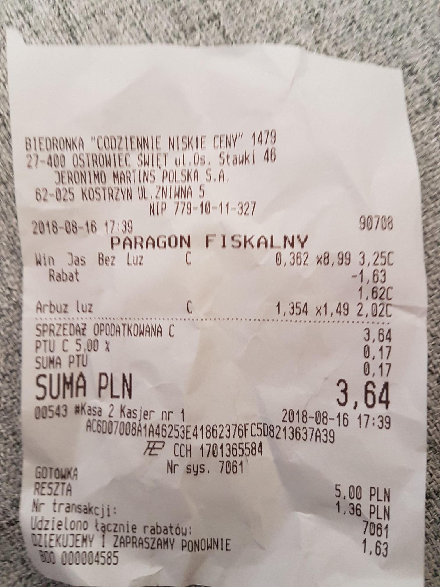 50% rabatu przy zakupie winogrona jasnego bez pestek-Biedronka