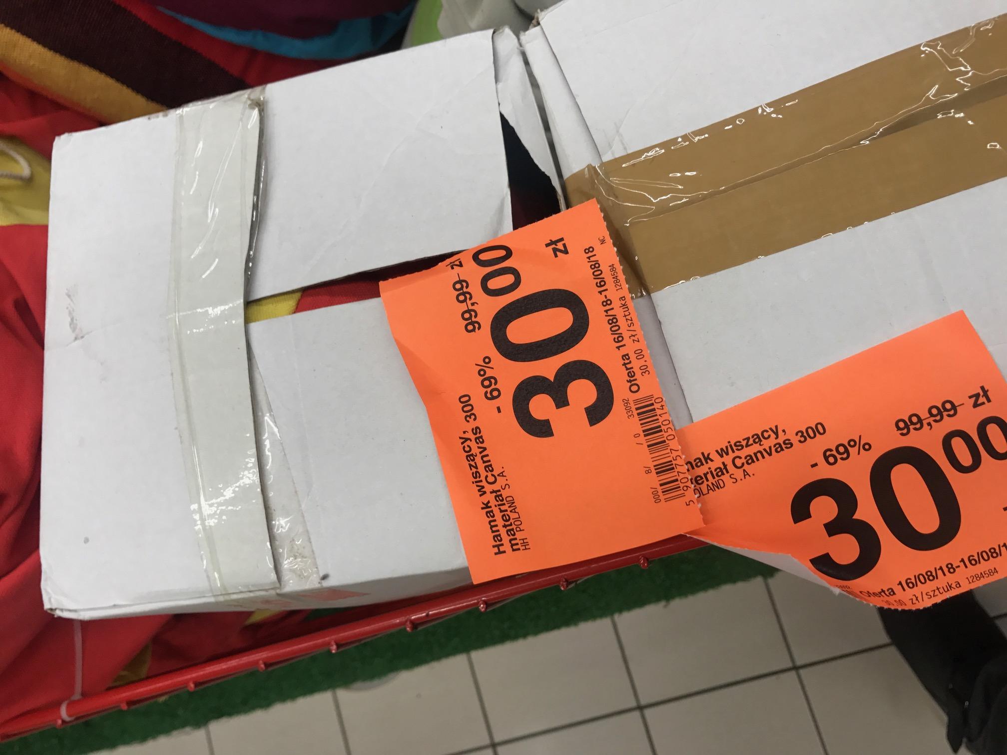 Carrefour Jaworzno Hamak Wiszacy Canvas 300.