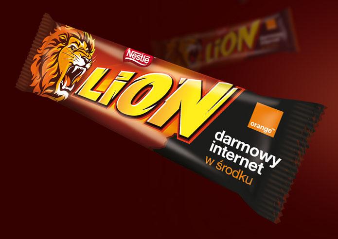 Darmowy internet Orange z batonami Lion (100MB przez 24h) @ Nestle
