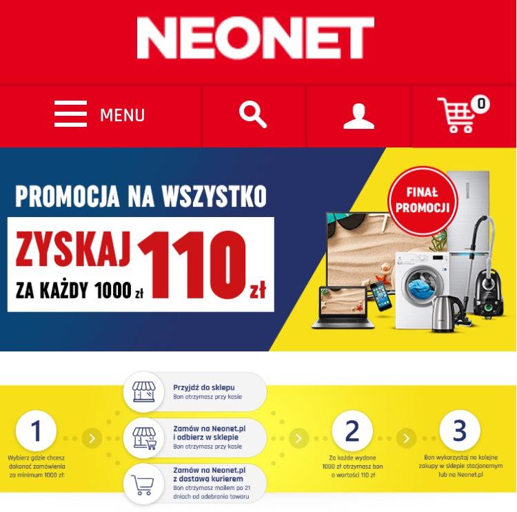 110 zł za każdy wydany 1000 @neonet