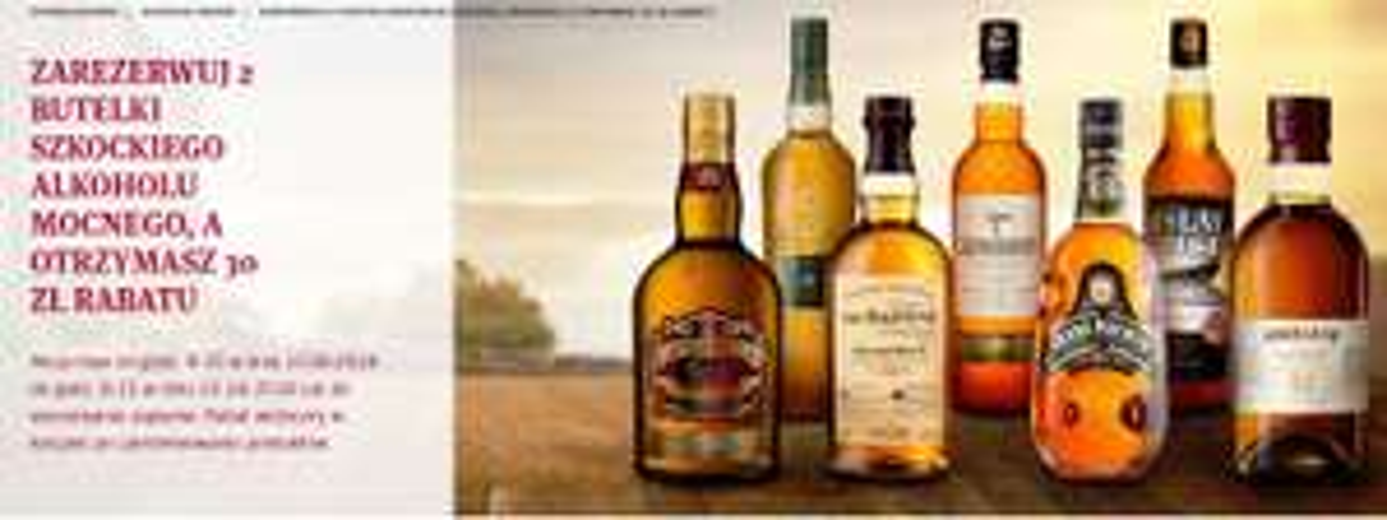 30 ZŁ RABATU ZA 2 SZKOCKIE ALKOHOLE Winnica Lidla