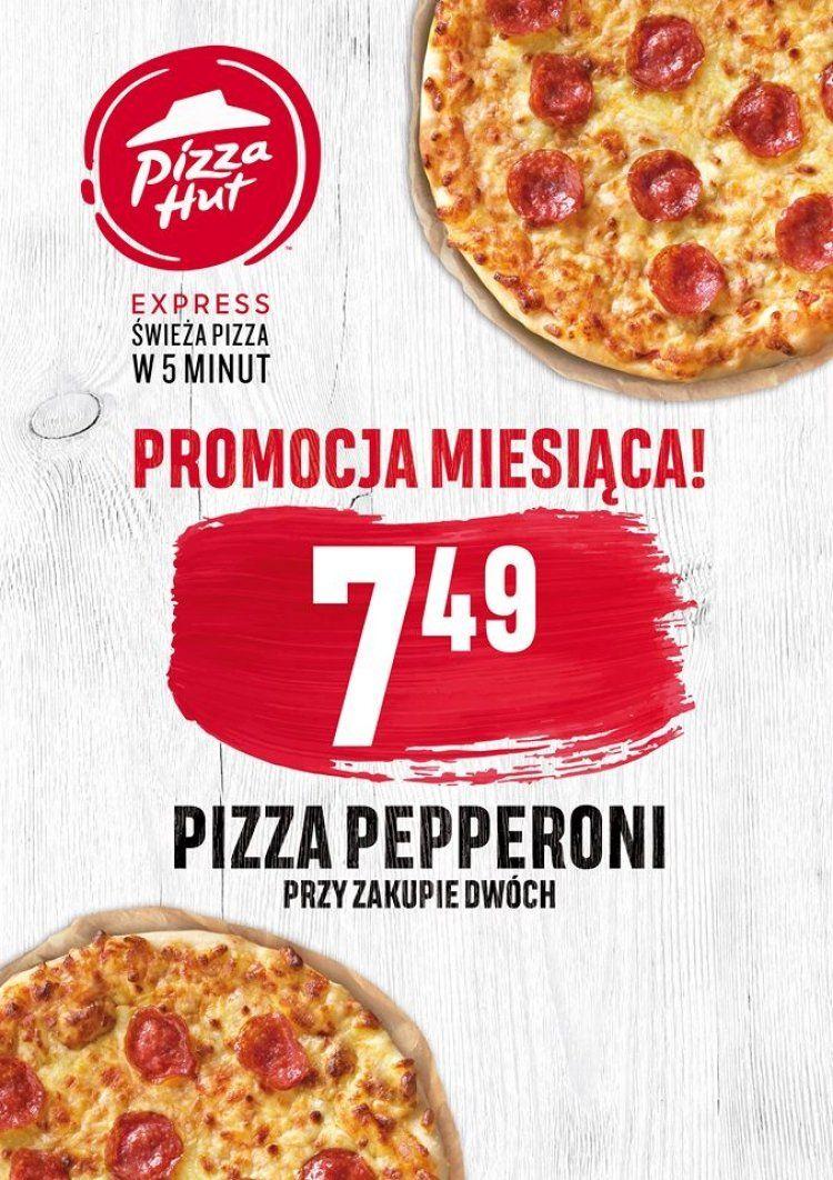 Pizza Hut Express (Katowice): pizza pepperoni za 7,49 zł