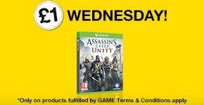 (TYLKO DZISIAJ) Assassin's Creed Unity (Xbox One) za 1GBP (~5,8zł) przy zakupie wybranych tytułów @ Game.co.uk