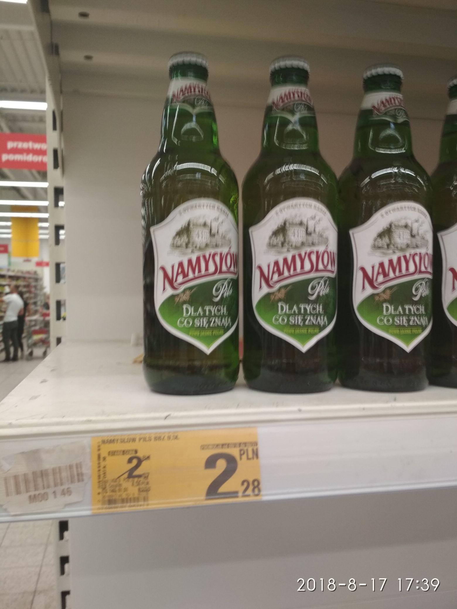 Piwo Namysłów @ Auchan (Częstochowa)