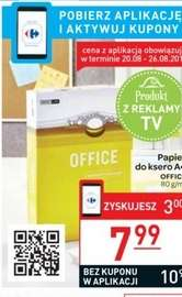 Papier do ksero A4 z aplikacją Carrefour