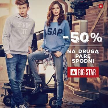 -50% na drugą parę spodni @ Big Star