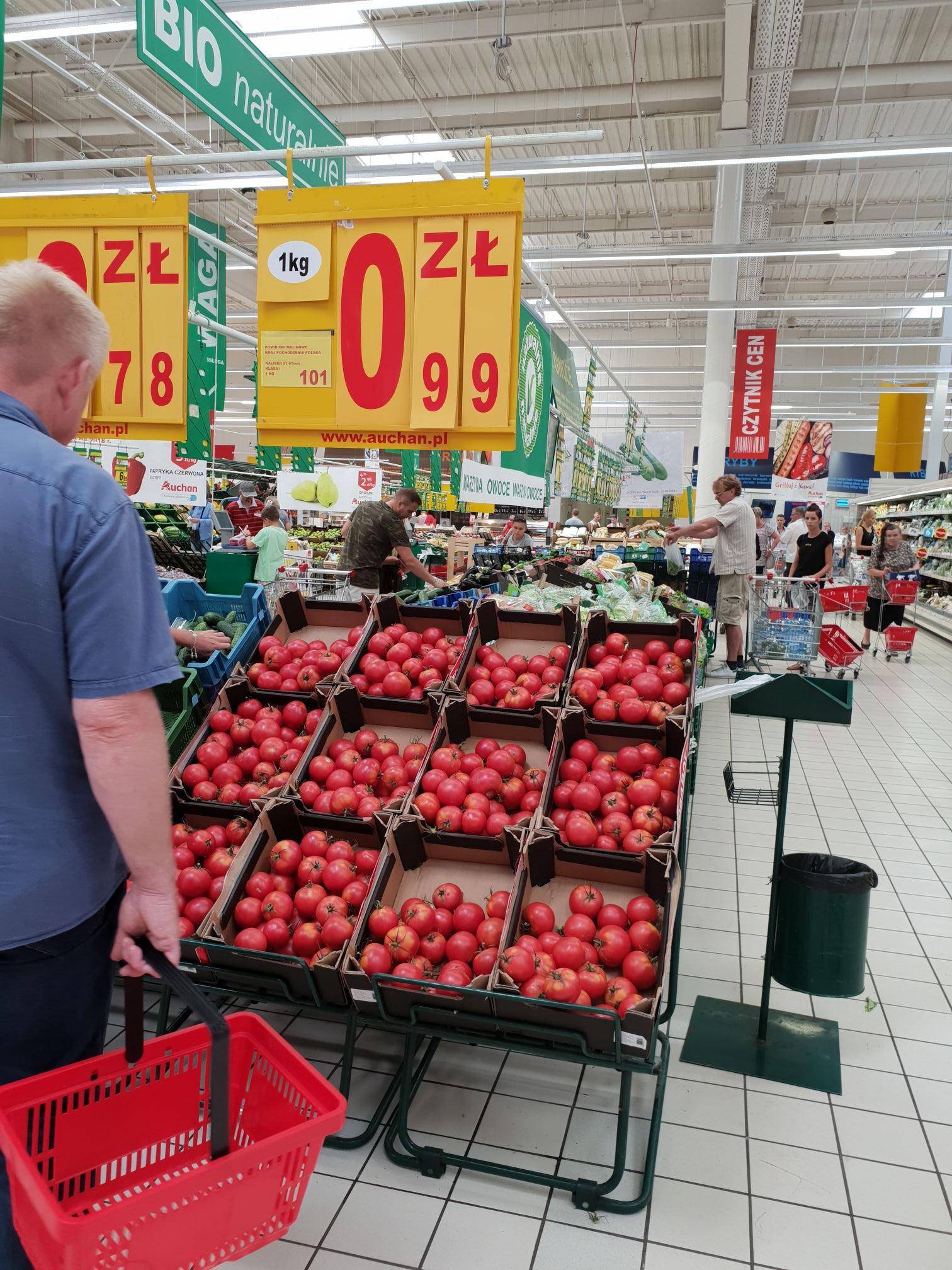 Pomidory malinowe Auchan Janki