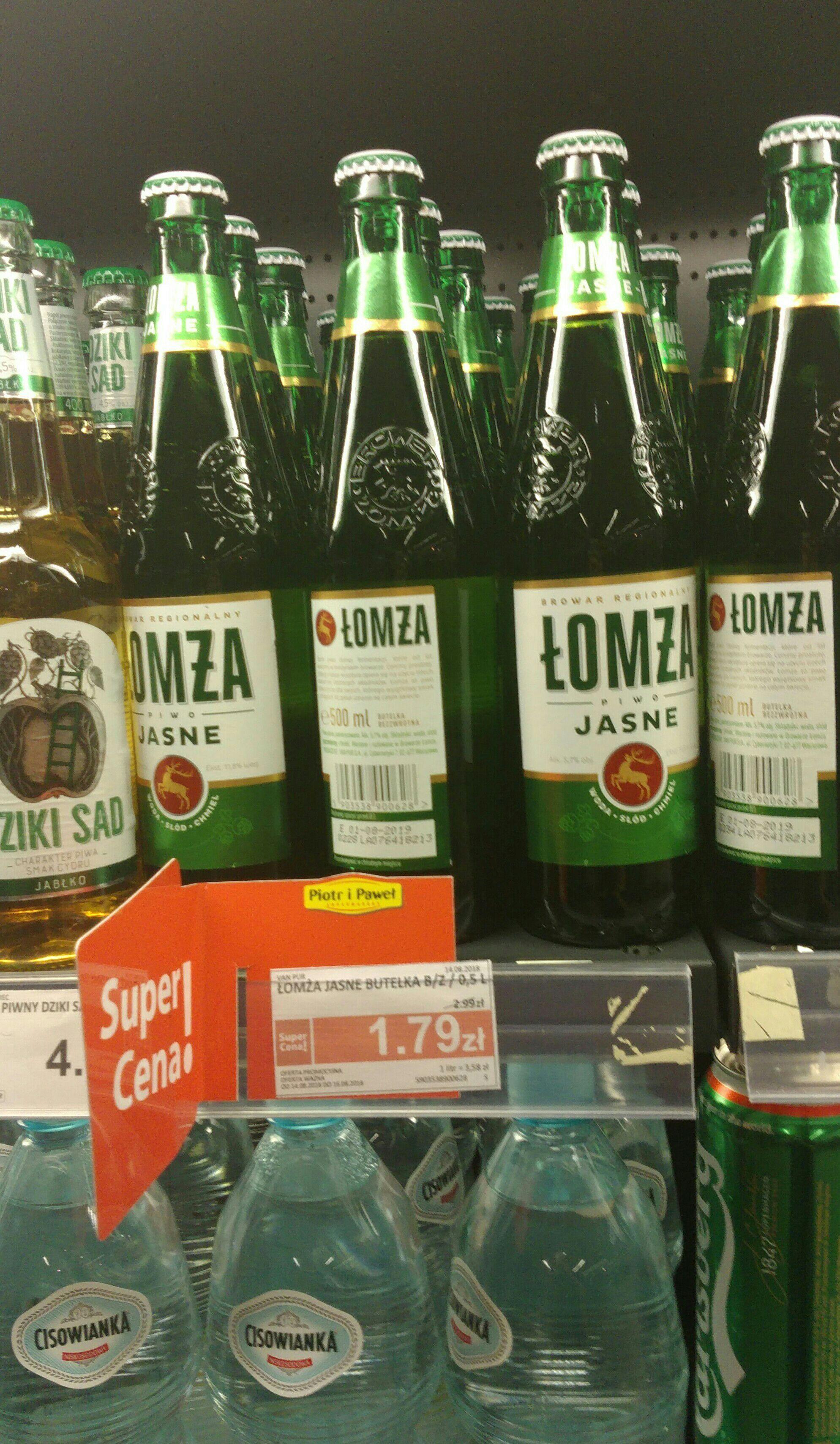 Piwo Łomża w dobrej cenie 1,79 zł.
