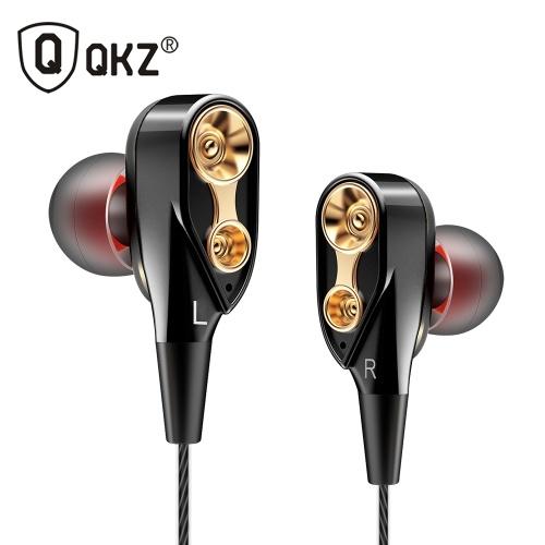 Słuchawki QKZ CK8 z mikrofonem Dual Driver